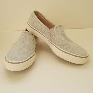 Keds light gray slip on sneakers sz 6